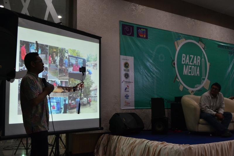 Hendrawan Setyawan, Kepala Biro Jawa Timur CNN Indonesia berbagi ilmu dan pengalaman menjadi jurnalis televisi dalam workshop Jurnalistik Televisi di Bazar Media AJI Malang (29-30 Mei 2016).